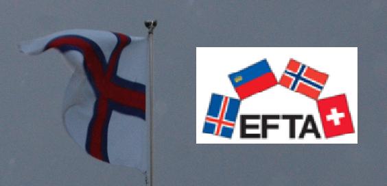 Færøflag + EFTA logo
