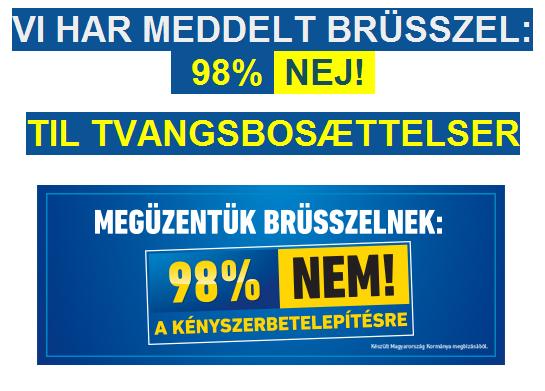 98 pct. nej på ungarsk