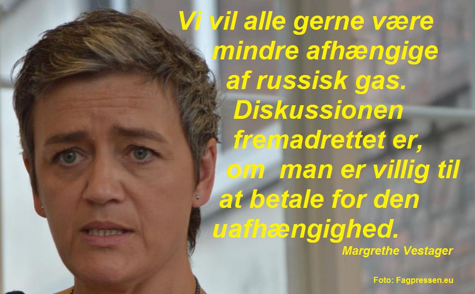 Margrethe Vestager citatgrafik Nord Stream II